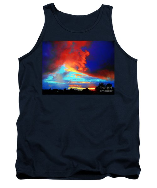 Tank Top featuring the photograph Strange Sunset by Mark Blauhoefer