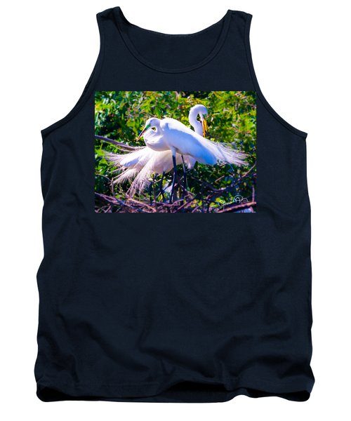 Criss-cross Egrets Tank Top
