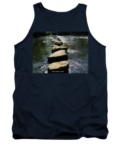 Tank Top featuring the painting Crossing The Creek by Bruce Nutting