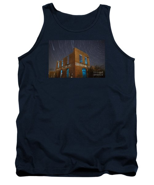 Tank Top featuring the photograph Cushing Auto Service by Keith Kapple