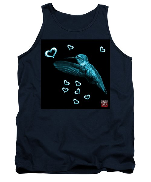 Cyan Hummingbird - 2055 F M Tank Top