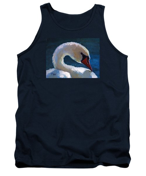 Tank Top featuring the painting Cygnus by Pattie Wall
