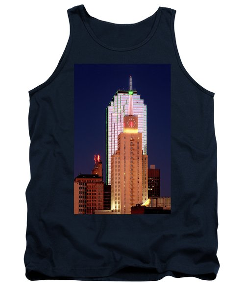 Tank Top featuring the photograph Dallas At Dawn by David Perry Lawrence