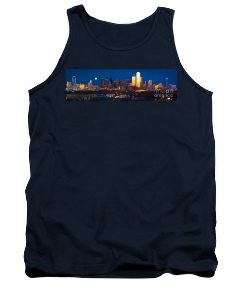 Dallas Skyline Panorama Tank Top by Inge Johnsson