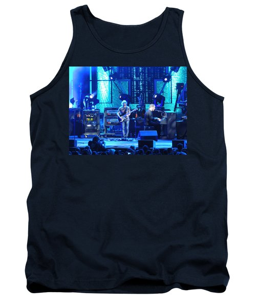 Tank Top featuring the photograph Dave And Tim Playing Out Of My Hands by Aaron Martens