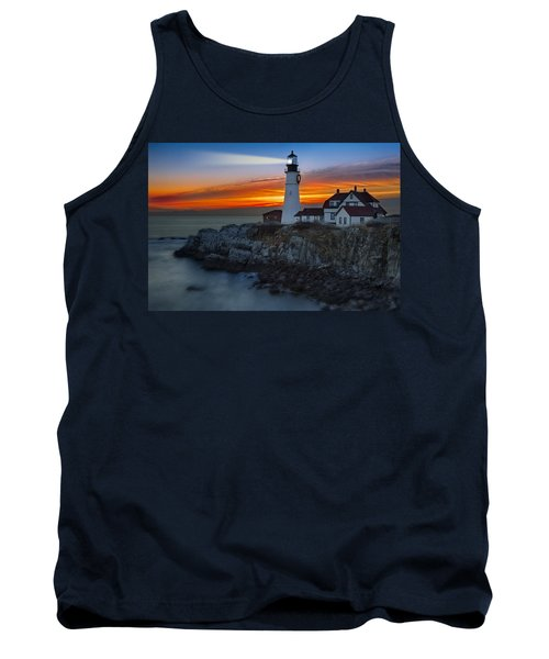Dawn At Portalnd Head Light Tank Top