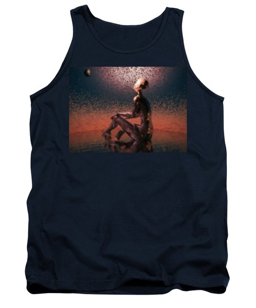Tank Top featuring the digital art Dawn by John Alexander