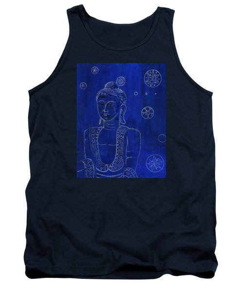 Deep Blue Buddha Tank Top