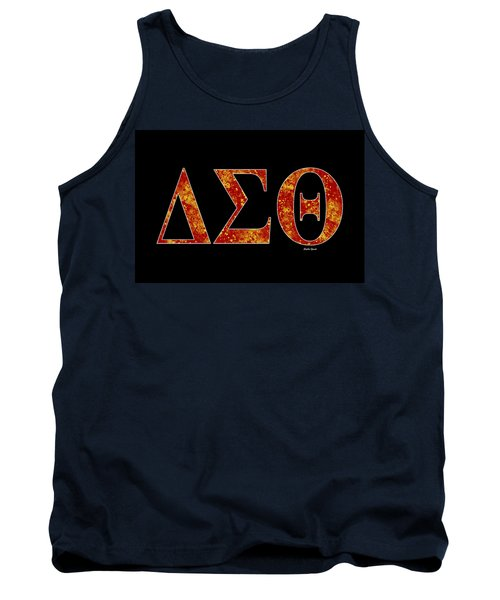 Tank Top featuring the digital art Delta Sigma Theta - Black by Stephen Younts