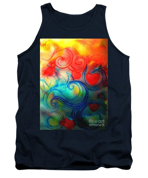 Tank Top featuring the painting Depths Of His Love by Hazel Holland