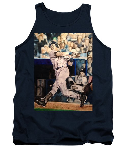 Tank Top featuring the painting Derek Jeter by Lance Gebhardt
