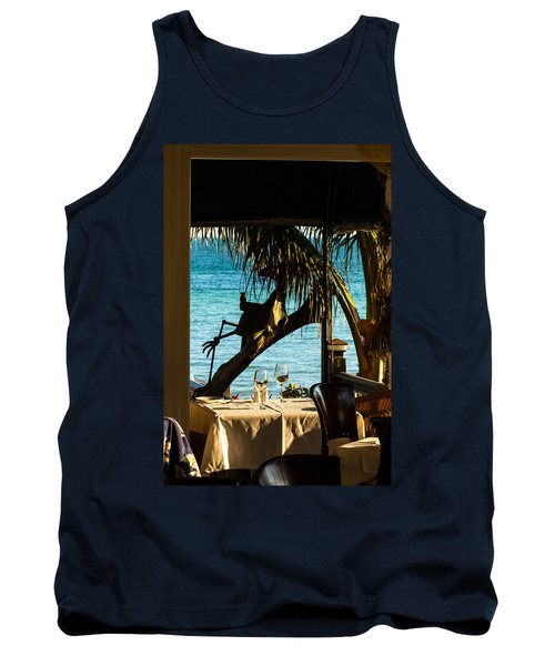 Dining For Two At Louie's Backyard Tank Top