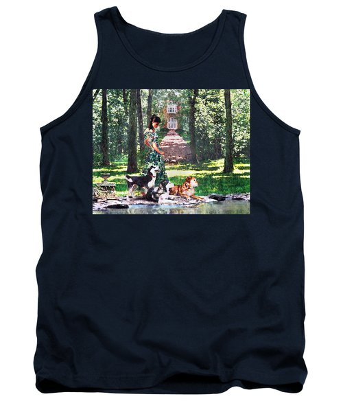 Dogs Lay At Her Feet Tank Top by Steve Karol