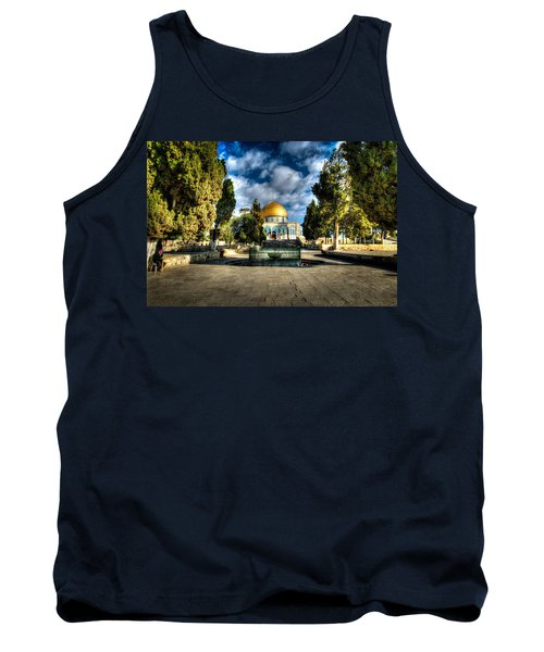 Dome Of The Rock Hdr Tank Top