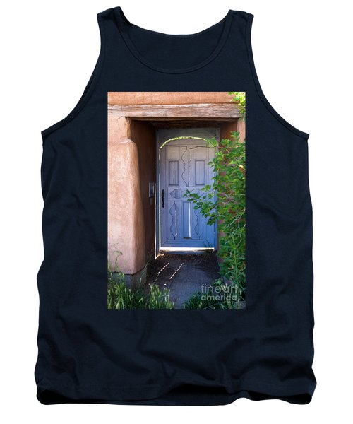Tank Top featuring the photograph Doors Of Santa Fe by Roselynne Broussard