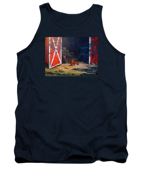 Down On The Farm Tank Top by Lee Piper