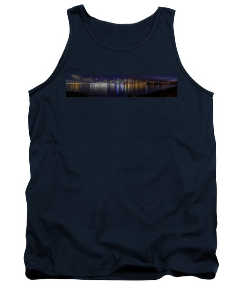 Downtown Vancouver Skyline By Night Tank Top