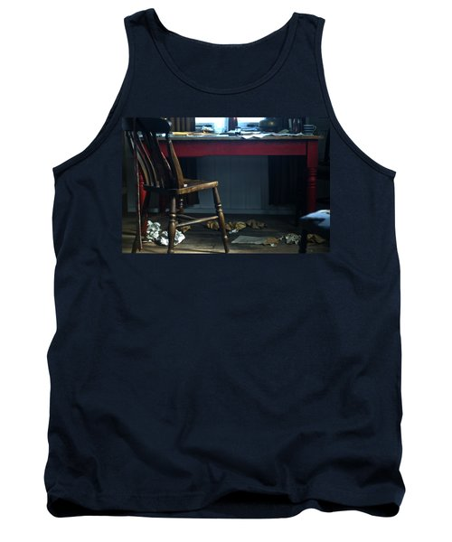 Dylan Thomas Writing Shed Tank Top by Steve Purnell