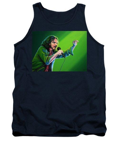 Eddie Vedder Of Pearl Jam Tank Top by Paul Meijering