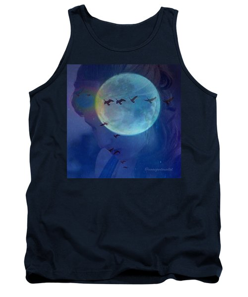 Edit To The Poem Oh Moon Tank Top