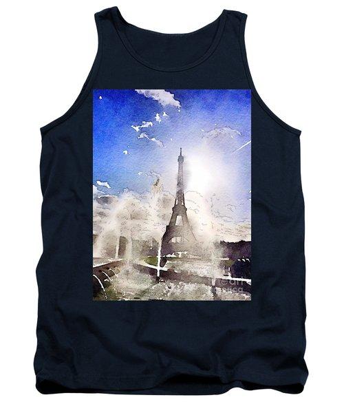 Eiffel During Summer Tank Top
