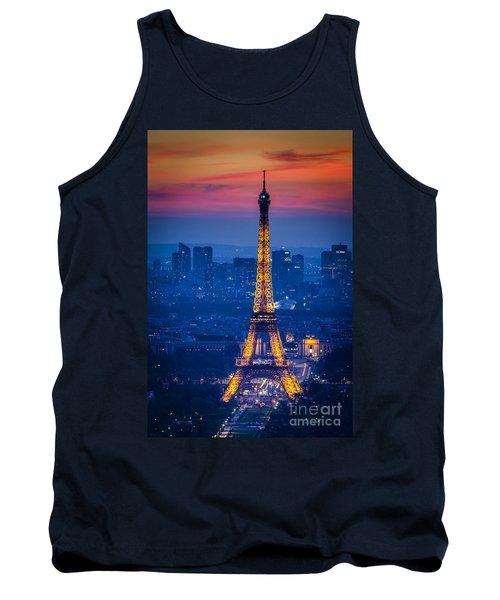 Eiffel Tower At Twilight Tank Top