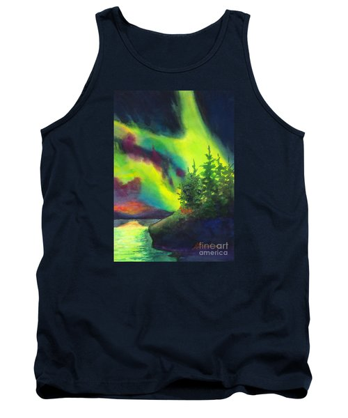 Electric Green In The Sky 2 Tank Top by Kathy Braud