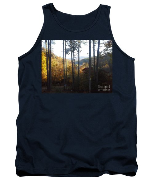 Tank Top featuring the painting Ellijay Color by Jan Dappen