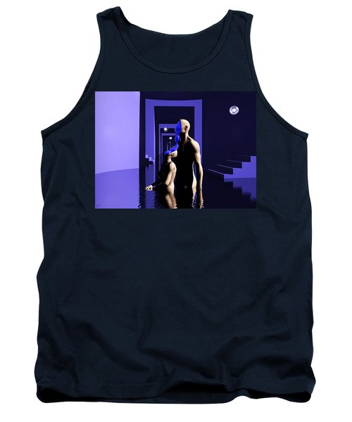 Tank Top featuring the digital art Emotional Symbiosis by John Alexander