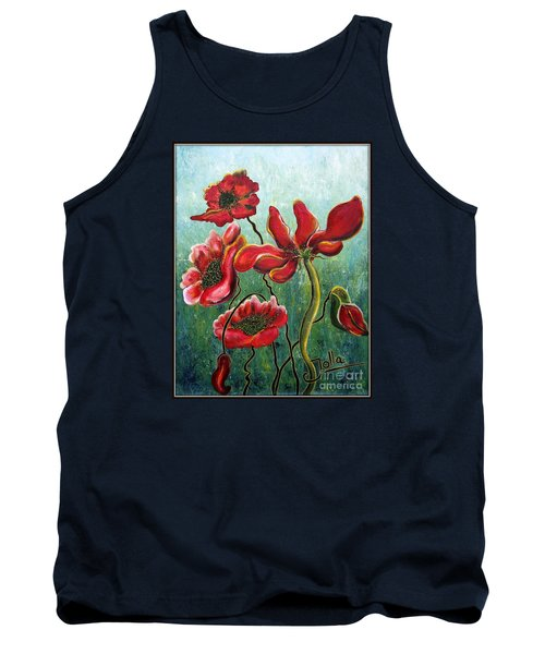 Endless Poppy Love Tank Top by Jolanta Anna Karolska