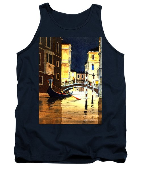 Tank Top featuring the painting Evening Lights - Venice by Bill Holkham