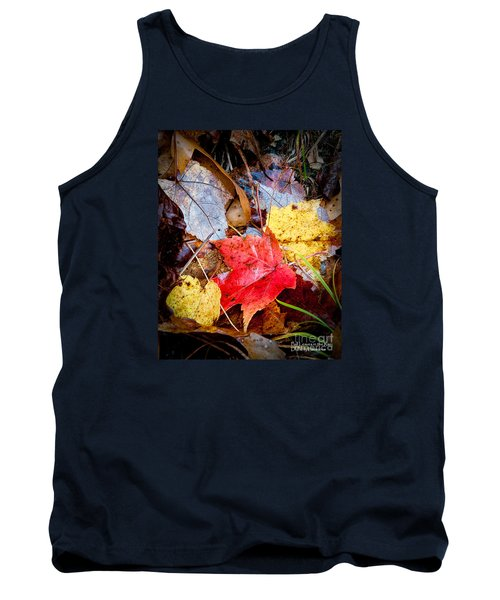 Tank Top featuring the photograph Fall Leaves In The Rain by David Perry Lawrence
