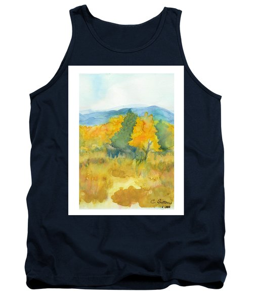 Tank Top featuring the painting Fall Trees by C Sitton