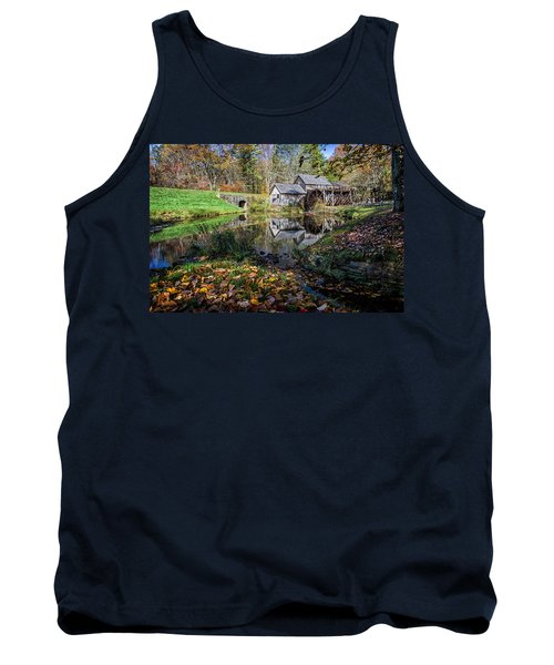 Fallen Leaves At Mabry Mill Tank Top