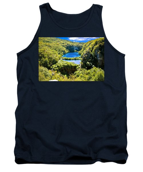 Falling Lakes Of Plitvice National Park Tank Top