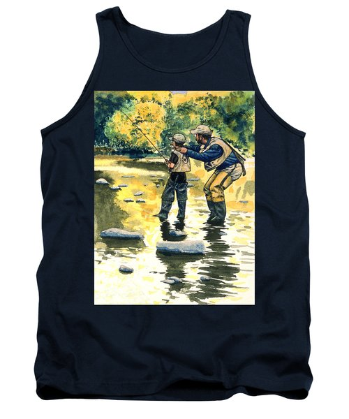 Father And Son Tank Top by John D Benson