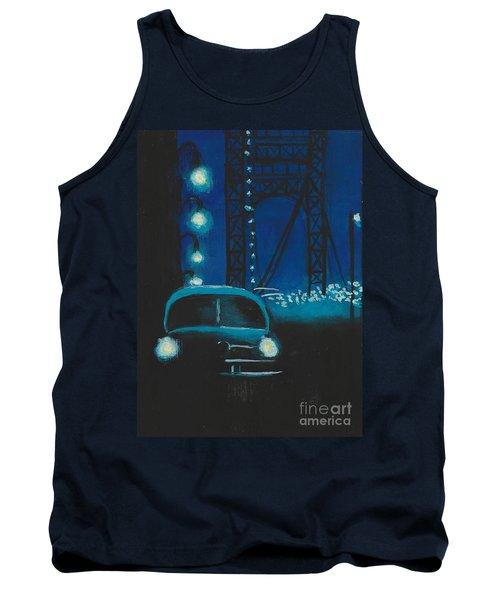 Film Noir In Blue #1 Tank Top