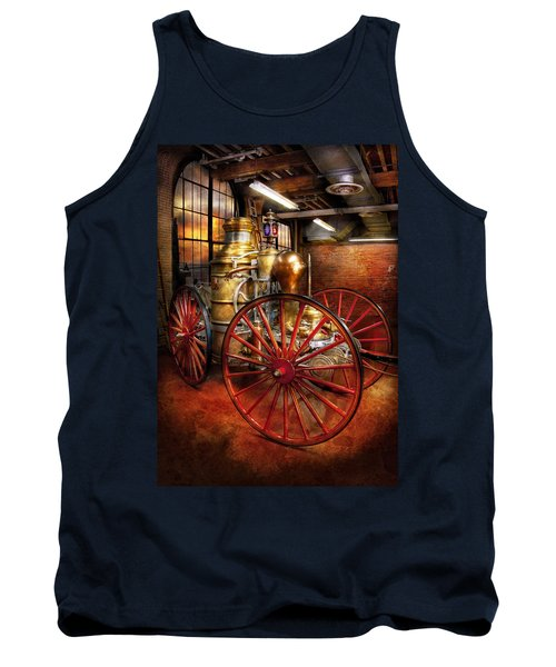 Fireman - One Day A Long Time Ago  Tank Top by Mike Savad