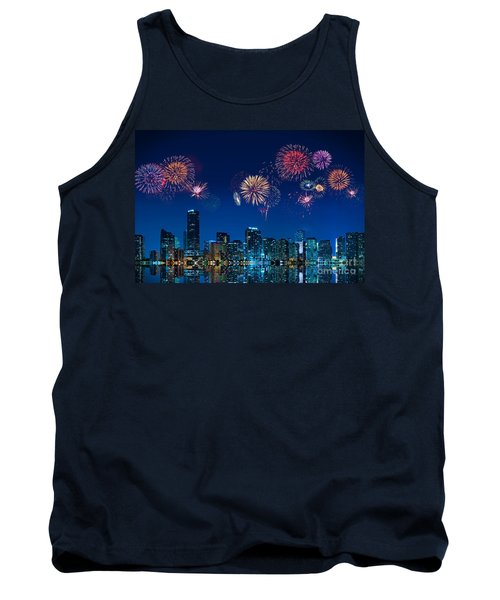 Fireworks In Miami Tank Top