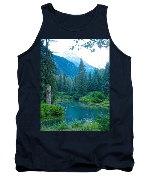 Fish Creek In Tongass National Forest By Hyder-ak  Tank Top by Ruth Hager