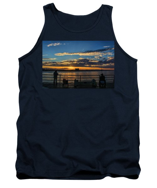 Tank Top featuring the photograph Fishermen Morning by Tammy Espino