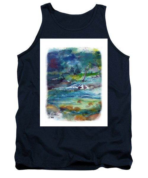 Tank Top featuring the painting Fishin' Hole 2 by C Sitton