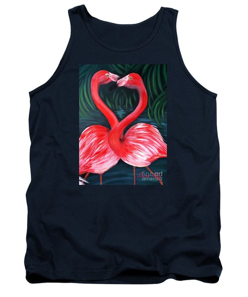 Flamingo Love Card Tank Top