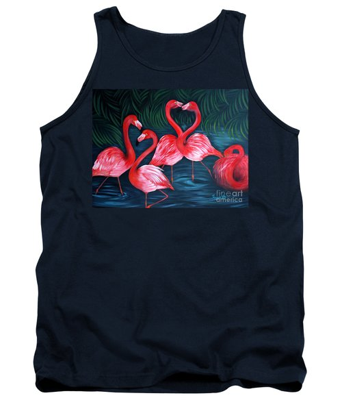 Flamingo Love. Inspirations Collection. Special Greeting Card Tank Top by Oksana Semenchenko