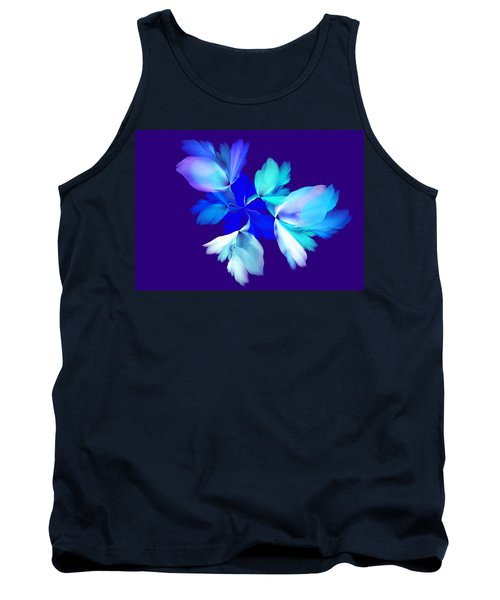 Tank Top featuring the digital art Floral Fantasy 012815 by David Lane