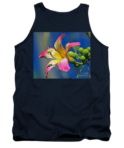Floss Silk Bloom Tank Top by Larry Nieland