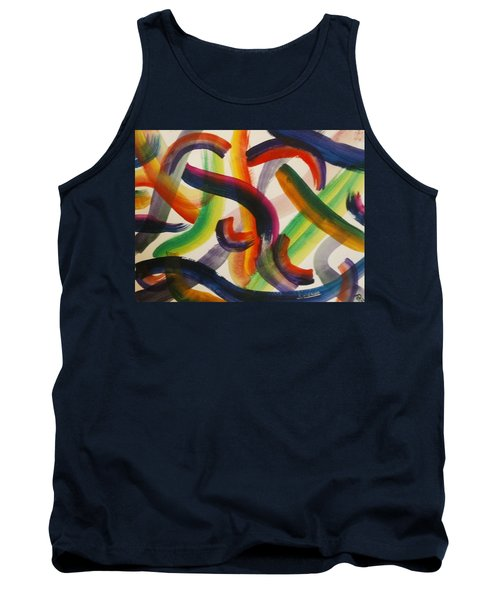 Tank Top featuring the painting Flow by Thomasina Durkay