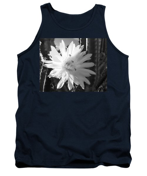 Flowering Cactus 5 Bw Tank Top