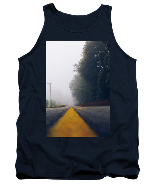 Fog On Highway Tank Top