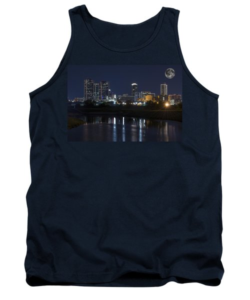 Fort Worth Skyline Super Moon Tank Top
